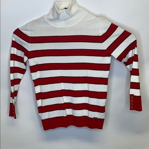 Tommy Hilfiger Red and White Christmas Sweater